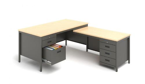 Desks and containers