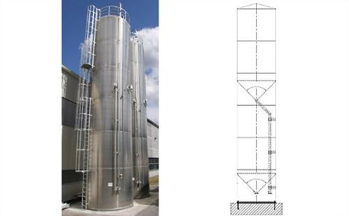 Double chamber silos