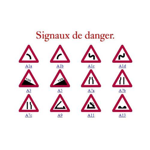 Panneau de signalisation de tous les types