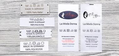 Onderhoudsetiketten van verschillend materiaal