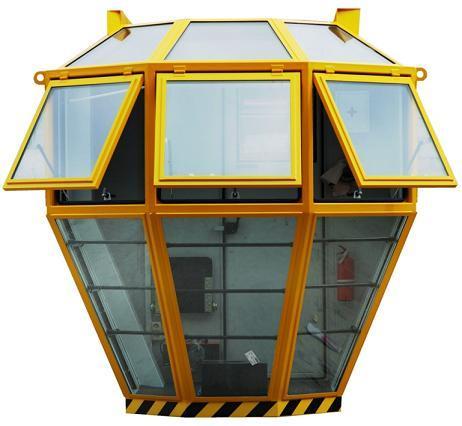 Operator cabin for metallurgical crane