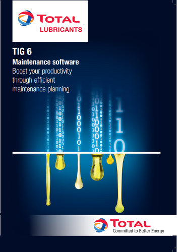 TIG 6, MAINTENANCE AND LUBRIFICATION SOFTWARE