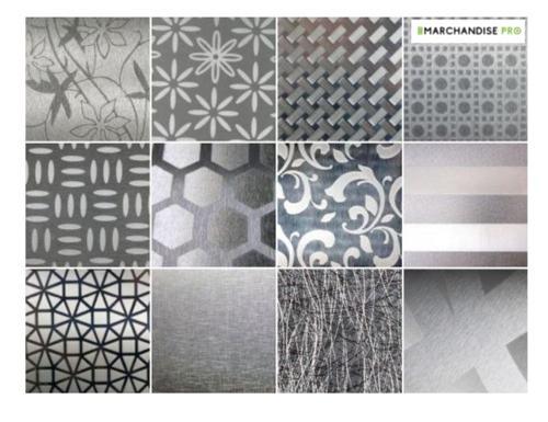Tôle aluminium brut décorative déco plaque inox alu brossé