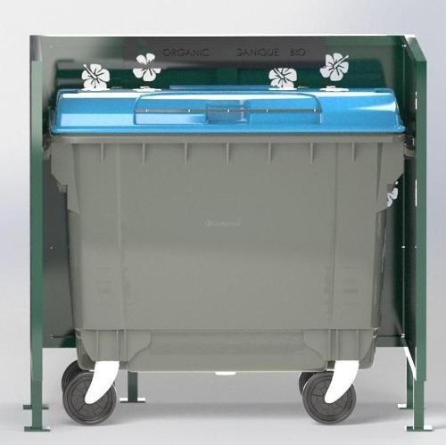 Cache Poubelle Conteneur Hibiscus En U Recyclage Organique