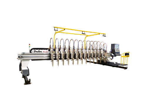 CNC oxygen cutting machine, flame cutting machine.