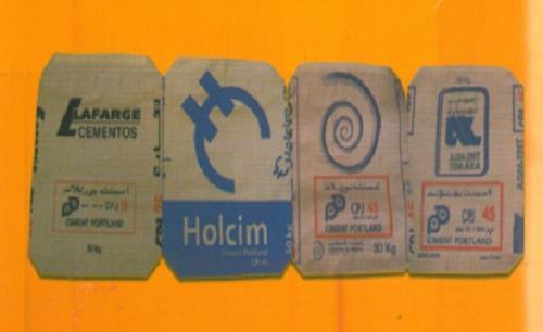 Sacs ciment/ sacs à valve