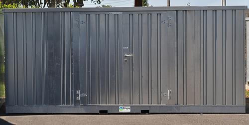 Bungalow de stockage 5 m x 2 m - Bungalow isolé -...