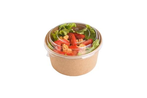 Round Paperboard Bowls with Transparent Lid