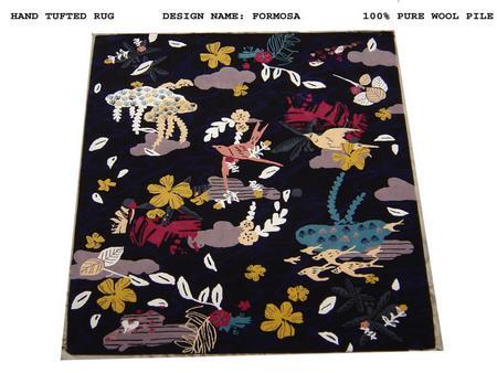 Hand Tufted Modern Designer Rug in 100% Wool Pile