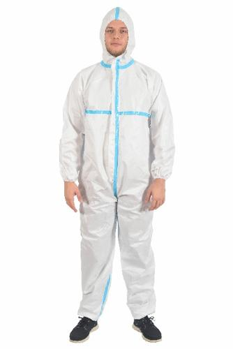 TYPE 3/4 PROTECTIVE COVERALL WITH COLD BONDED