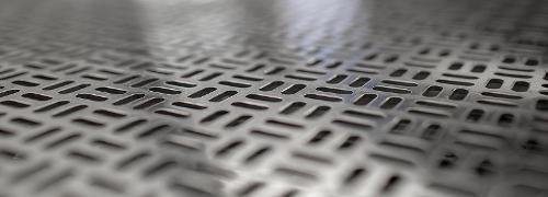 Perforated metal sheets from aluminium