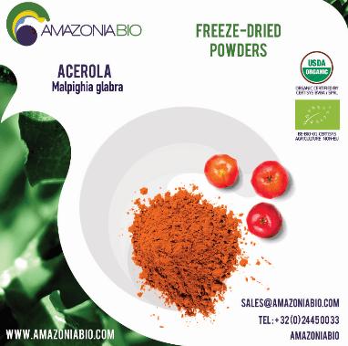 Organic Acerola Freeze-Dried Powder 50% Tapioca