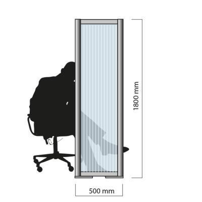 """Ecran de protection """"Barrière"""" contre la COVID 19 - H.1,8 mètre"""