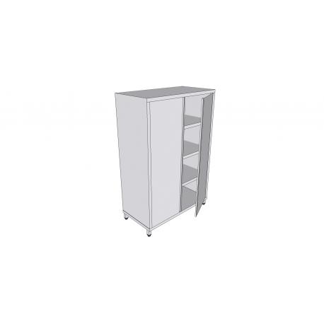 Armoire verticale en inox sur pieds avec 2 portes