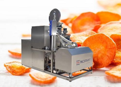 Vacuum fryer for making apple, fruit or vegetable chips