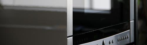 Microwave oven doors