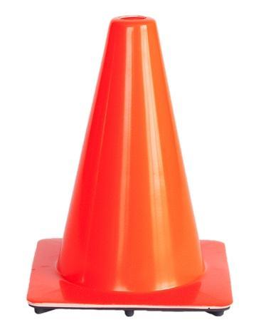 Cone soft pvc no stripes H 30 cm