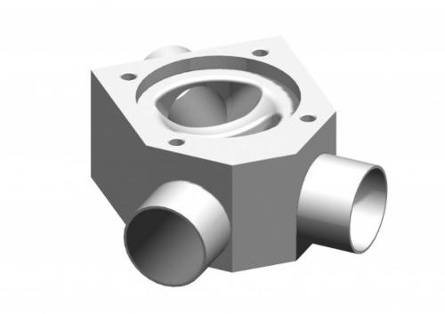SISTO-CY aseptic Diaphragm valve, forged body, PN16