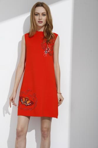 embroidery dress for ladies' summer wear