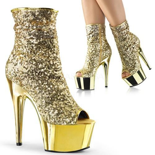 ADORE-1008SQ Gold Sequins/Gold Chrome
