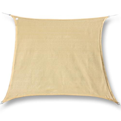 hanSe® Marken Sonnensegel 100% Polyester Quadrat 2x2 m Sand