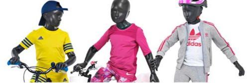 Flexible kid display mannequin