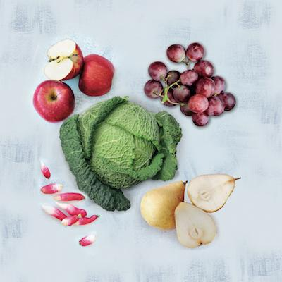 Corbeilles de fruits bio, locaux et de saison