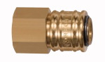 Quick-connect coupling I.D. 7.2, bright brass, G 1/2 IT