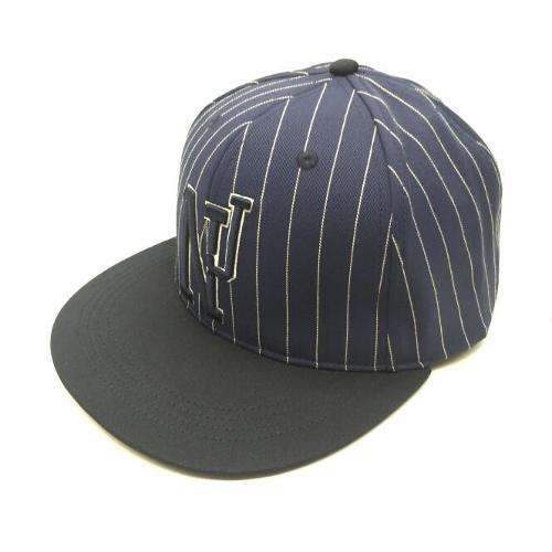 NJ 3D embroidered stripe snapback cap