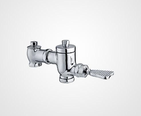 Foot touch flush valve