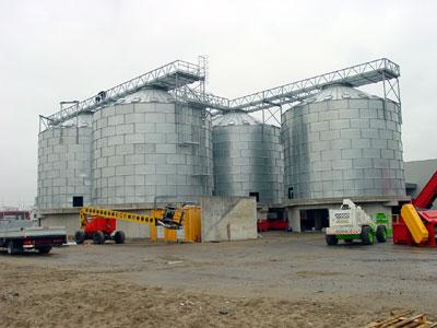 Storage silos for all bulk products - Silos 5 x 1125 m3