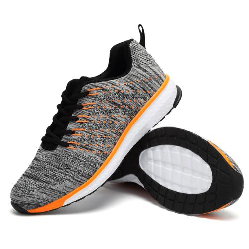 Fly knitting shoes active breath running shoes race men