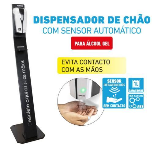 Dispensador de gel vertical com sensor automático