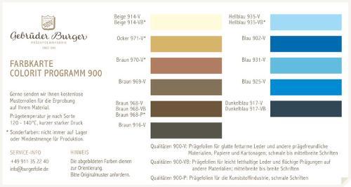Colorit Programm 900/2
