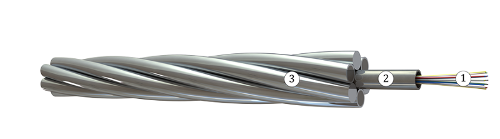 OKGT-с (OPGW with central optical steel tube)