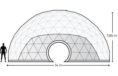 Alquiler Domos Geodésicos Geodomes G150