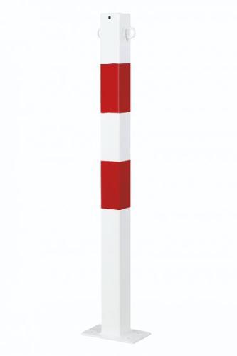 Potelet 70x70 Mm Avec Oeillets Rouge-blanc