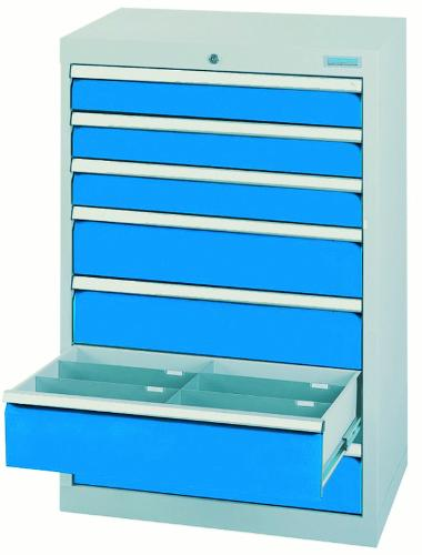 Drawer cabinet series T500-6 with 7 drawers, different...