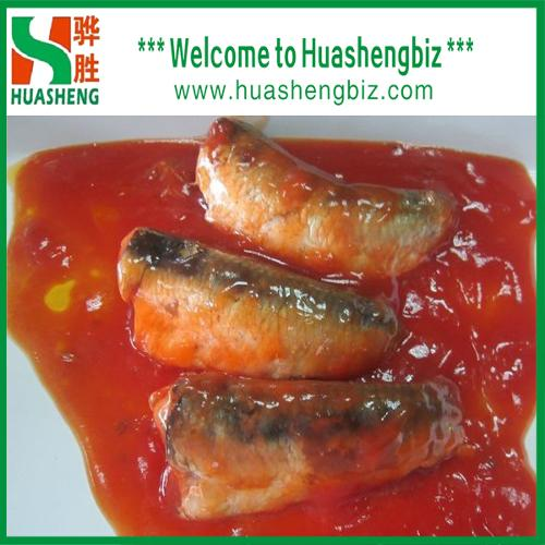Premium quality fresh canned sardines in tomato sauce