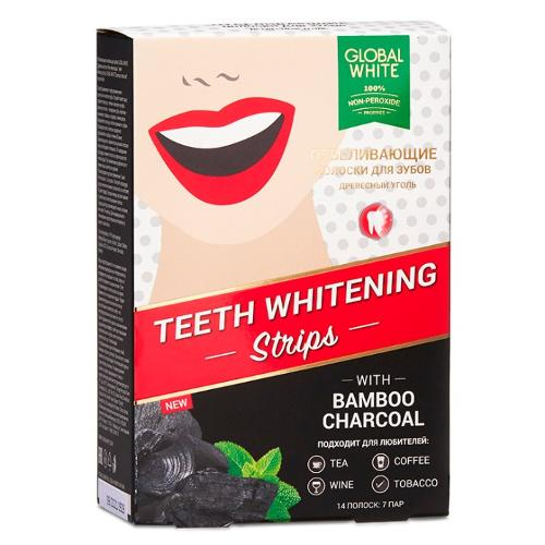 "TEETH WHITENING STRIPS ""BAMBOO CHARCOAL"" NON-PEROXIDE"