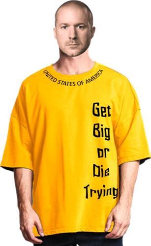 Wholesale Men's oversized cotton t-shirt.