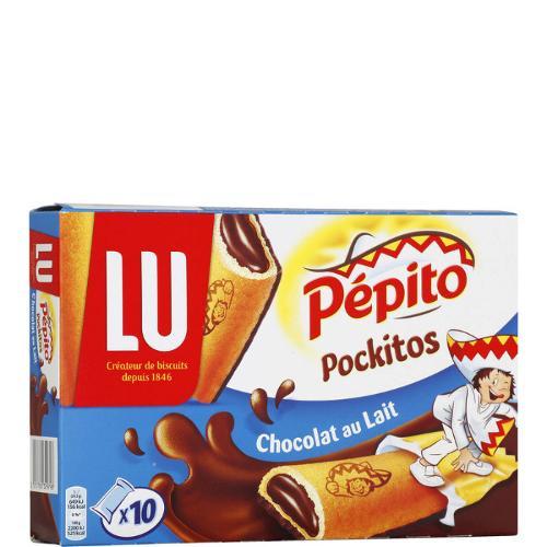Biscuits Pépito Pockitos chocolat au lait 295g - LU