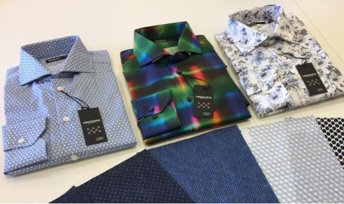 Shirts and fabrics made of 100% organic cotton