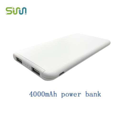 ultra thin portable power bank 4000mAh