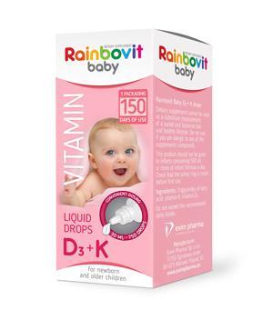 Rainbovit Baby Vitamin D3 + K