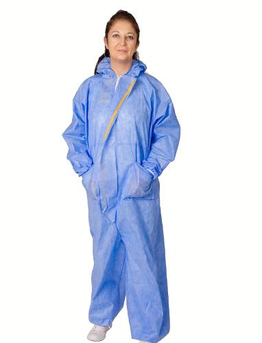 Disposable Coverall Sms Waterproof, 40gr / M2, Individually Packaged
