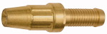 GEKA spray nozzle with hose connector, bright brass, I.D. 25