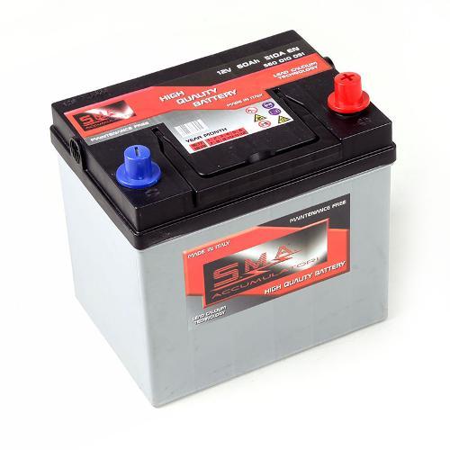 Batteria Avviamento auto asiatiche 60 Ampere 12 Volt