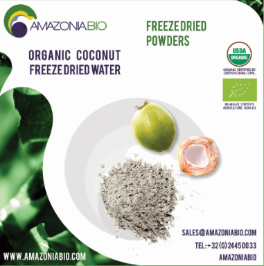 Organic Coconut Freeze-Dried Water powder with Coffee Flavor
