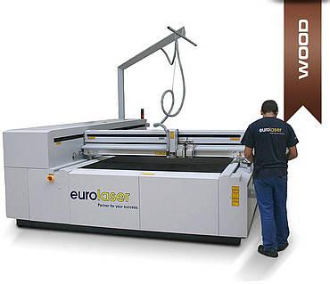 Laser machine for wood